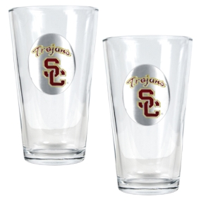 USC Trojans 2pc Pint Ale Glass Set