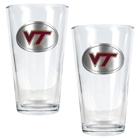 Virginia Tech Hokies 2pc Pint Ale Glass Set