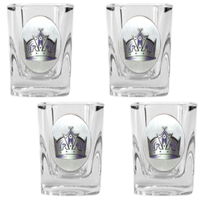 Los Angeles Kings 4pc Square Shot Glass Set