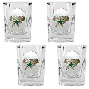 Dallas Stars 4pc Square Shot Glass Set