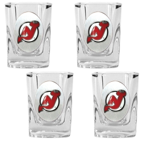 New Jersey Devils 4pc Square Shot Glass Set