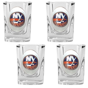 New York Islanders 4pc Square Shot Glass Set