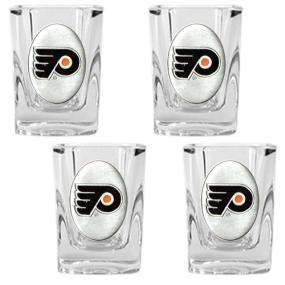 Philadelphia Flyers 4pc Square Shot Glass Set