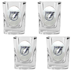 Tampa Bay Lightning 4pc Square Shot Glass Set