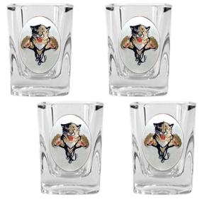 Florida Panthers 4pc Square Shot Glass Set