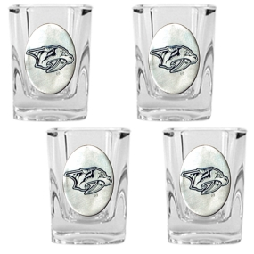 Nashville Predators 4pc Square Shot Glass Set