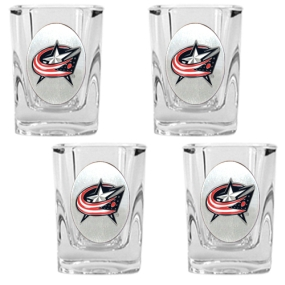 Columbus Blue Jackets 4pc Square Shot Glass Set