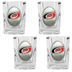 Carolina Hurricanes 4pc Square Shot Glass Set
