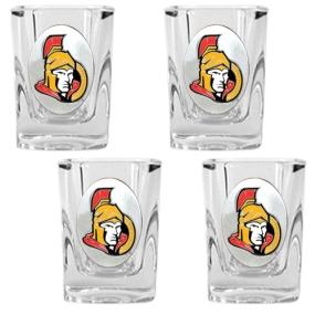 Ottawa Senators 4pc Square Shot Glass Set