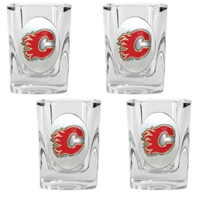Atlanta Flames 4pc Square Shot Glass Set
