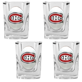 Montreal Canadiens 4pc Square Shot Glass Set