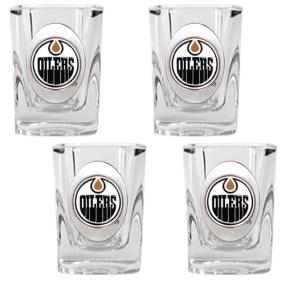 Edmonton Oilers 4pc Square Shot Glass Set
