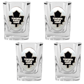 Toronto Maple Leafs 4pc Square Shot Glass Set