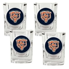 Chicago Bears 4pc Square Shot Glass Set