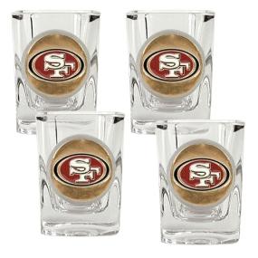 San Francisco 49ers 4pc Square Shot Glass Set