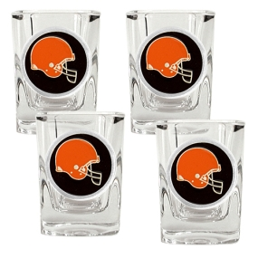 Cleveland Browns 4pc Square Shot Glass Set