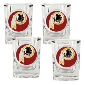 Washington Redskins 4pc Square Shot Glass Set