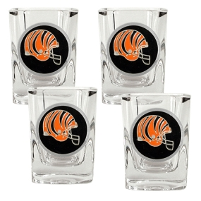 Cincinnati Bengals 4pc Square Shot Glass Set