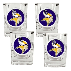 Minnesota Vikings 4pc Square Shot Glass Set