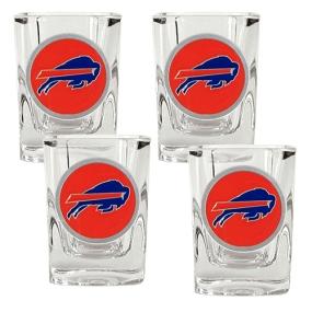 Buffalo Bills 4pc Square Shot Glass Set