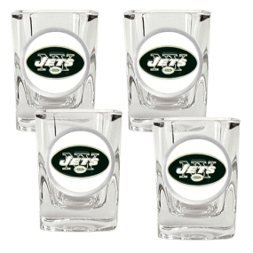New York Jets 4pc Square Shot Glass Set