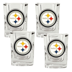 Pittsburgh Steelers 4pc Square Shot Glass Set