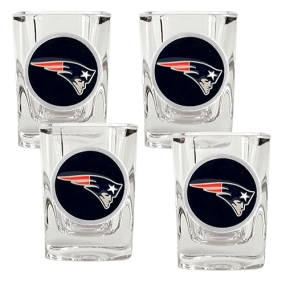 New England Patriots 4pc Square Shot Glass Set