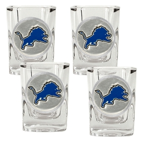 Detroit Lions 4pc Square Shot Glass Set