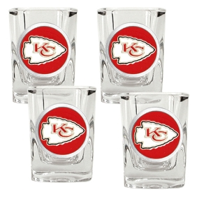 Kansas City Chiefs 4pc Square Shot Glass Set
