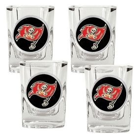 Tampa Bay Buccaneers 4pc Square Shot Glass Set