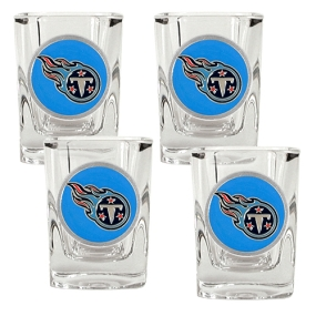 Tennessee Titans 4pc Square Shot Glass Set