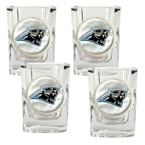 Carolina Panthers 4pc Square Shot Glass Set