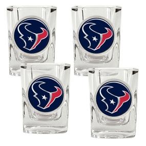 Houston Texans 4pc Square Shot Glass Set