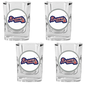 Atlanta Braves 4pc Square Shot Glass Set