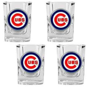 Chicago Cubs 4pc Square Shot Glass Set