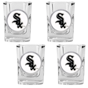 Chicago White Sox 4pc Square Shot Glass Set