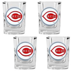 Cincinnati Reds 4pc Square Shot Glass Set