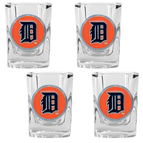 Detroit Tigers 4pc Square Shot Glass Set