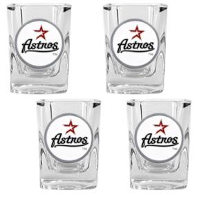 Houston Astros 4pc Square Shot Glass Set