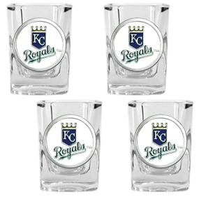 Kansas City Royals 4pc Square Shot Glass Set