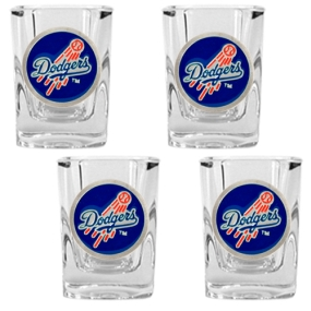Los Angeles Dodgers 4pc Square Shot Glass Set