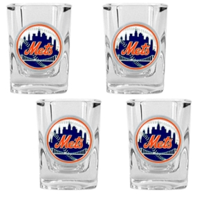 New York Mets 4pc Square Shot Glass Set