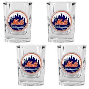 New York Mets 4pc Square Shot Glass Set