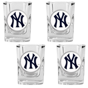 New York Yankees 4pc Square Shot Glass Set