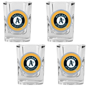 Oakland A's 4pc Square Shot Glass Set