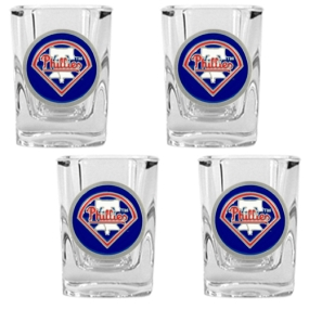 Philadelphia Phillies 4pc Square Shot Glass Set