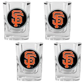 San Francisco Giants 4pc Square Shot Glass Set