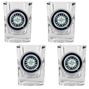 Seattle Mariners 4pc Square Shot Glass Set