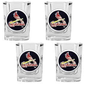 Saint Louis Cardinals 4pc Square Shot Glass Set