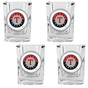 Texas Rangers 4pc Square Shot Glass Set
